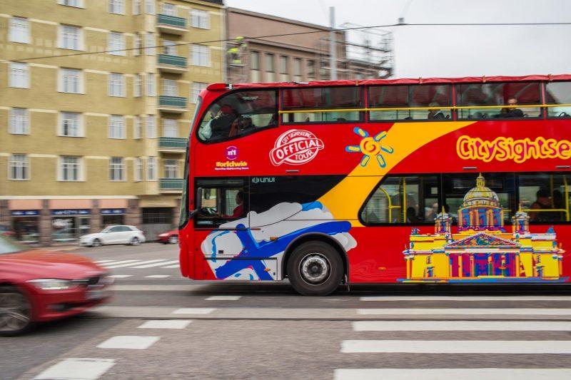 Turistibussi Helsingissä.